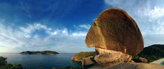 Ancient granite boulders in the Similan Islands