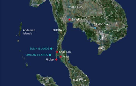 Similan Islands location