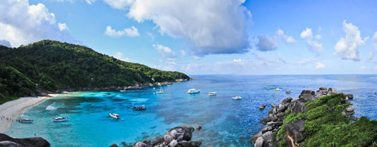 Overlooking a bay in the Similan Islands
