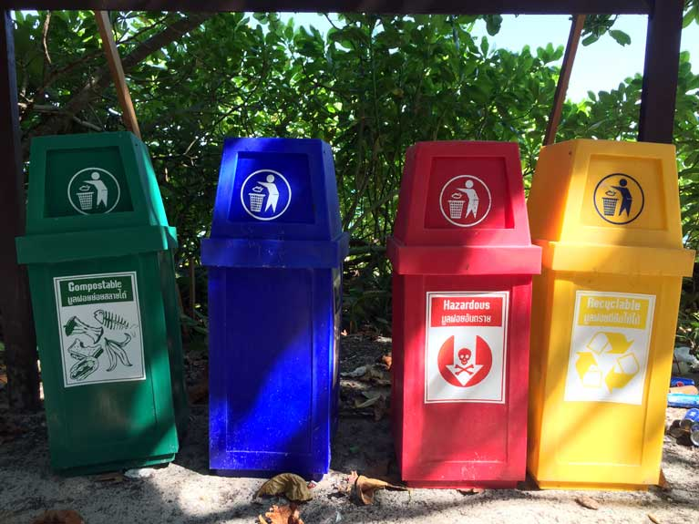 Garbage bins at the SImilans