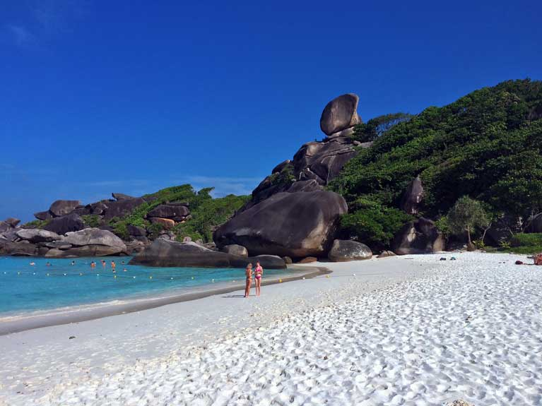 Quiet beach at Similan Island 8
